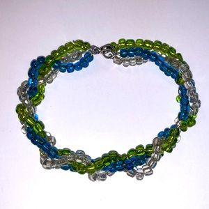 Multicolor Three Strand Bracelet